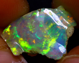 6.93Ct Multi Color Play Ethiopian Welo Opal Rough JF2820/R2