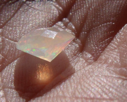 1.22 Ct Contra Luz Faceted Fire Mexican Opal