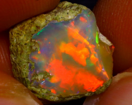 6.25Ct Multi Color Play Ethiopian Welo Opal Rough J2908/R2