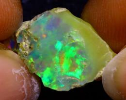 6.48Ct Multi Color Play Ethiopian Welo Opal Rough J2911/R2