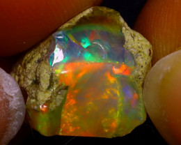 9.99Ct Multi Color Play Ethiopian Welo Opal Rough J2913/R2