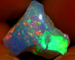 5.53Ct Multi Color Play Ethiopian Welo Opal Rough J2916/R2
