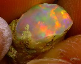 5.86Ct Multi Color Play Ethiopian Welo Opal Rough J2924/R2