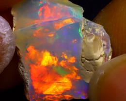 4.96Ct Multi Color Play Ethiopian Welo Opal Rough J2925/R2