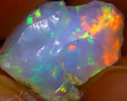 6.29Ct Multi Color Play Ethiopian Welo Opal Rough J2926/R2