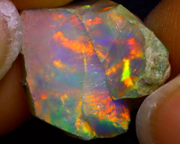 7.37Ct Multi Color Play Ethiopian Welo Opal Rough J2927/R2