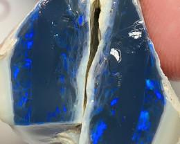 BLACK OPAL- BRIGHT BLUE ON BLACK SEAM SPLIT #925