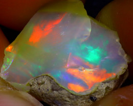 10.63Ct Multi Color Play Ethiopian Welo Opal Rough JF3008/R2