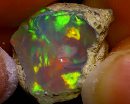 9.63Ct Multi Color Play Ethiopian Welo Opal Rough JF3011/R2