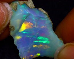 11.06Ct Multi Color Play Ethiopian Welo Opal Rough JF3014/R2
