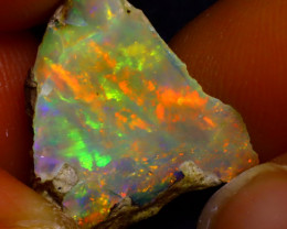 8.43Ct Multi Color Play Ethiopian Welo Opal Rough JF3017/R2