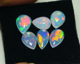 5.780CRT BRILLIANT BRIGHT PARCEL 6 PCS PEAR WELO OPAL -