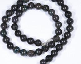 "Queensland Sandstone Opal Matrix (Fairy Opal) Beaded Necklace  18"" Long Cod"