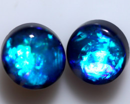 3.45 CTS BLACK OPAL PAIR FROM LIGHTNING RIDGE  [LRO1312]