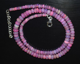 ETHIOPIAN OPAL BEADS NECKLACE BEADS STERLING SILVER OBJ-181