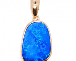 925 ST/ SILVER RHODIUM PLATED OPAL DOUBLET PENDANT [FP30]
