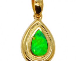 925 ST/ SILVER RHODIUM PLATED OPAL DOUBLET PENDANT [FP31]