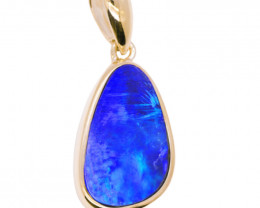 925 ST/ SILVER RHODIUM PLATED OPAL DOUBLET PENDANT [FP32]