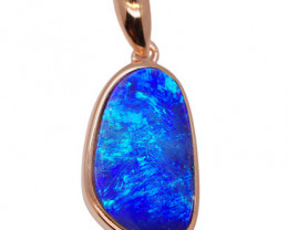 925 ST/ SILVER RHODIUM PLATED OPAL DOUBLET PENDANT [FP33]