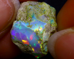 10.62Ct Multi Color Play Ethiopian Welo Opal Rough JF0101/R2