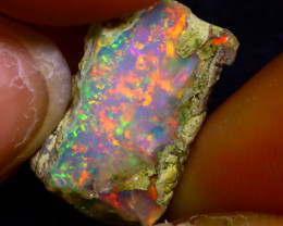 7.75Ct Multi Color Play Ethiopian Welo Opal Rough JF0102/R2