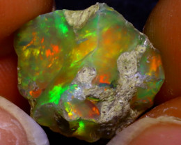 9.52Ct Multi Color Play Ethiopian Welo Opal Rough JF0106/R2