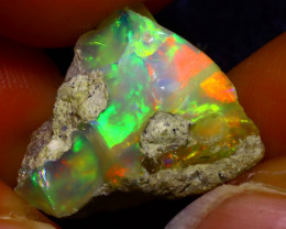 12.02Ct Multi Color Play Ethiopian Welo Opal Rough JF0107/R2