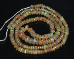 30.55 Ct Natural Ethiopian Welo Opal Beads Play Of Color OB1083