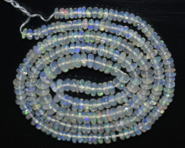 28.05 Ct Natural Ethiopian Welo Opal Beads Play Of Color OB1084