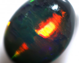 0.80 CTS  ROLLING FLASH BLACK OPAL LIGHTNING RIDGE  [PS182]