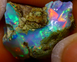 9.50Ct Multi Color Play Ethiopian Welo Opal Rough J0227/R2