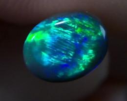 1.15 cts Gem Grade Natural solid BLACK opal with multiple gem fire