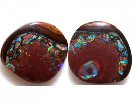 23.31 CTS DOUBLE SIDED STUNNING BOULDER OPAL FROM KOROIT [BMA9880]