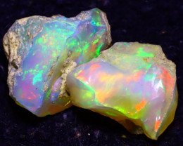13.00Ct Multi Color Play Ethiopian Welo Opal Rough JF0305/R2