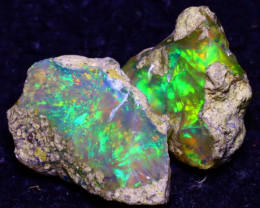 15.82Ct Multi Color Play Ethiopian Welo Opal Rough JF0306/R2