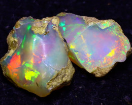 12.88Ct Multi Color Play Ethiopian Welo Opal Rough JF0307/R2