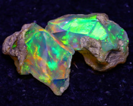 12.83Ct Multi Color Play Ethiopian Welo Opal Rough JF0309/R2