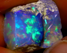 13.00Ct Multi Color Play Ethiopian Welo Opal Rough JF0320/R2