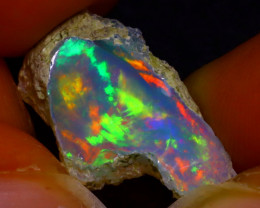 6.13Ct Multi Color Play Ethiopian Welo Opal Rough J0424/R2