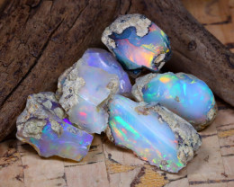 Welo Rough 34.35Ct Natural Ethiopian Play Of Color Rough Opal F3005