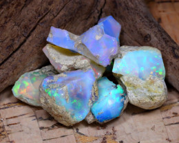 Welo Rough 38.93Ct Natural Ethiopian Play Of Color Rough Opal F3007