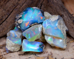 Welo Rough 34.70Ct Natural Ethiopian Play Of Color Rough Opal F3008