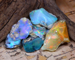 Welo Rough 36.56Ct Natural Ethiopian Play Of Color Rough Opal F3009