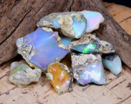 Welo Rough 37.64Ct Natural Ethiopian Play Of Color Rough Opal F3011