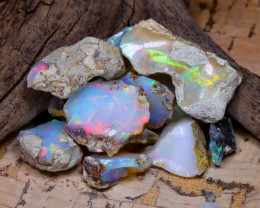 Welo Rough 38.45Ct Natural Ethiopian Play Of Color Rough Opal D3111