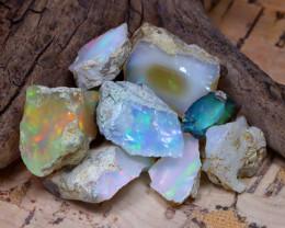 Welo Rough 35.57Ct Natural Ethiopian Play Of Color Rough Opal E3105