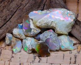 Welo Rough 35.89Ct Natural Ethiopian Play Of Color Rough Opal E3110
