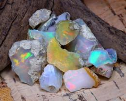 Welo Rough 35.23Ct Natural Ethiopian Play Of Color Rough Opal E3111