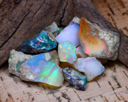 Welo Rough 38.68Ct Natural Ethiopian Play Of Color Rough Opal F3102