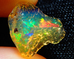 3.18ct -#A7 - Natural Rough Mexican Fire Opal